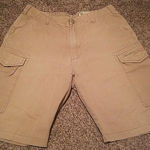Volcom Stone Scout mens khaki cargo shorts